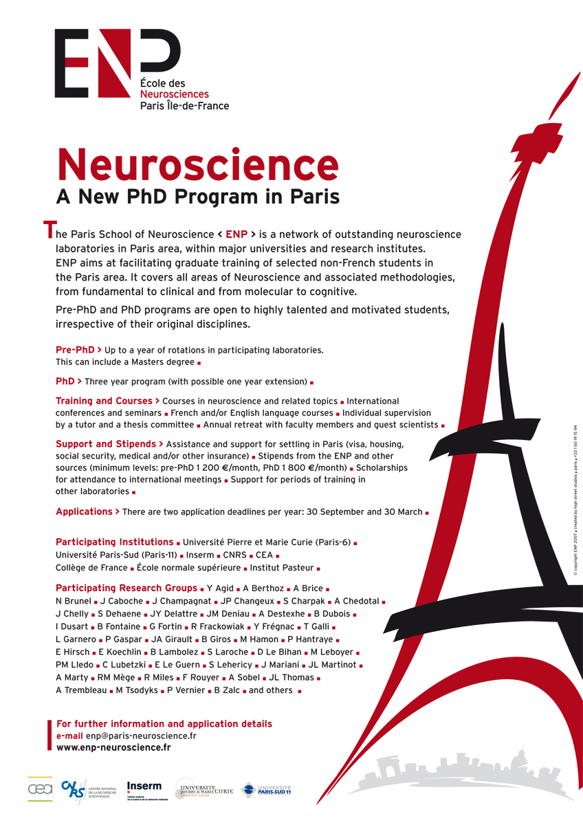 ENP École des neurosciences, Paris (Inserm) - PhD Program