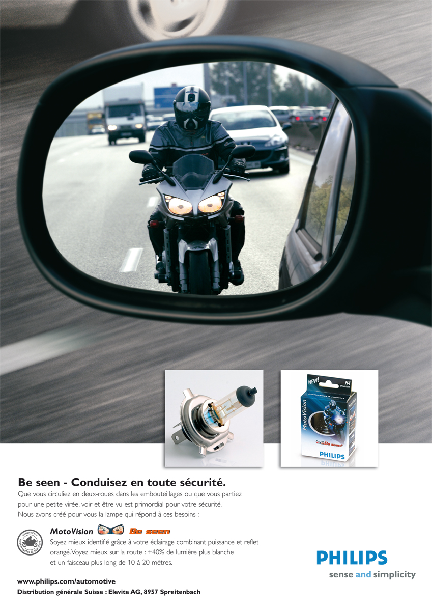 Philips MotoVision two-wheeler lighting ad