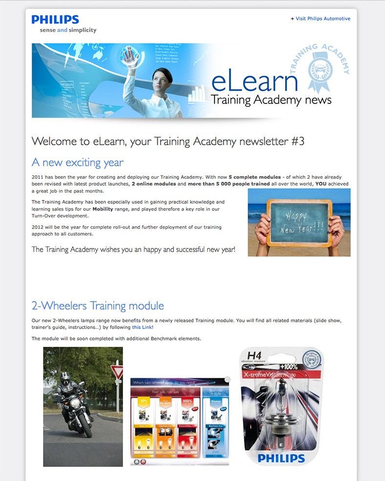 eLearn - Philips Training Academy e-newsletter