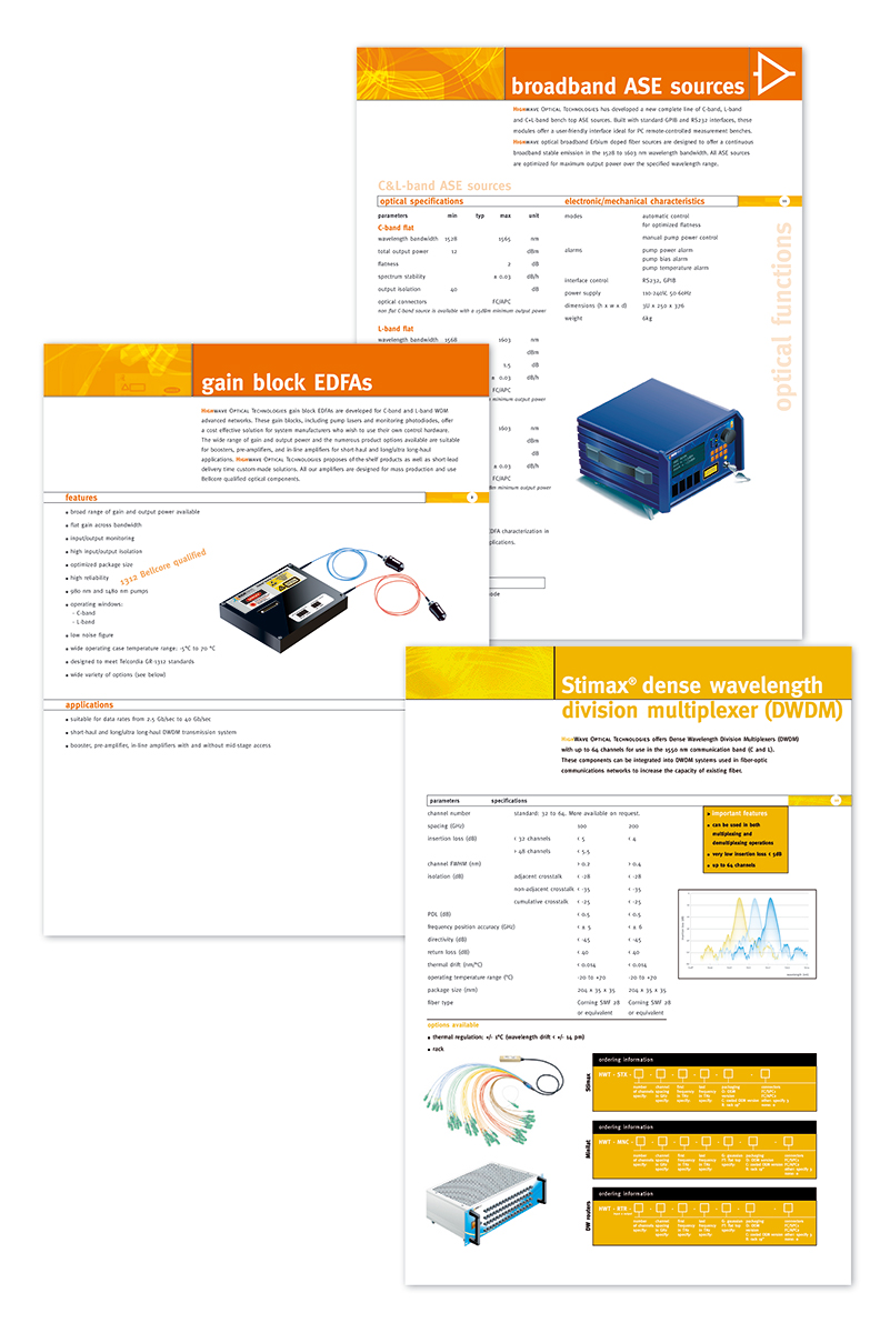 HighWave Optical Technologies - product sheets