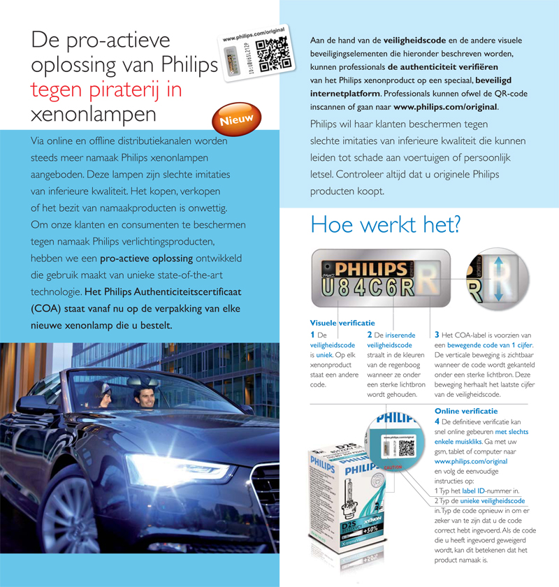 Philips product information leaflet - inside