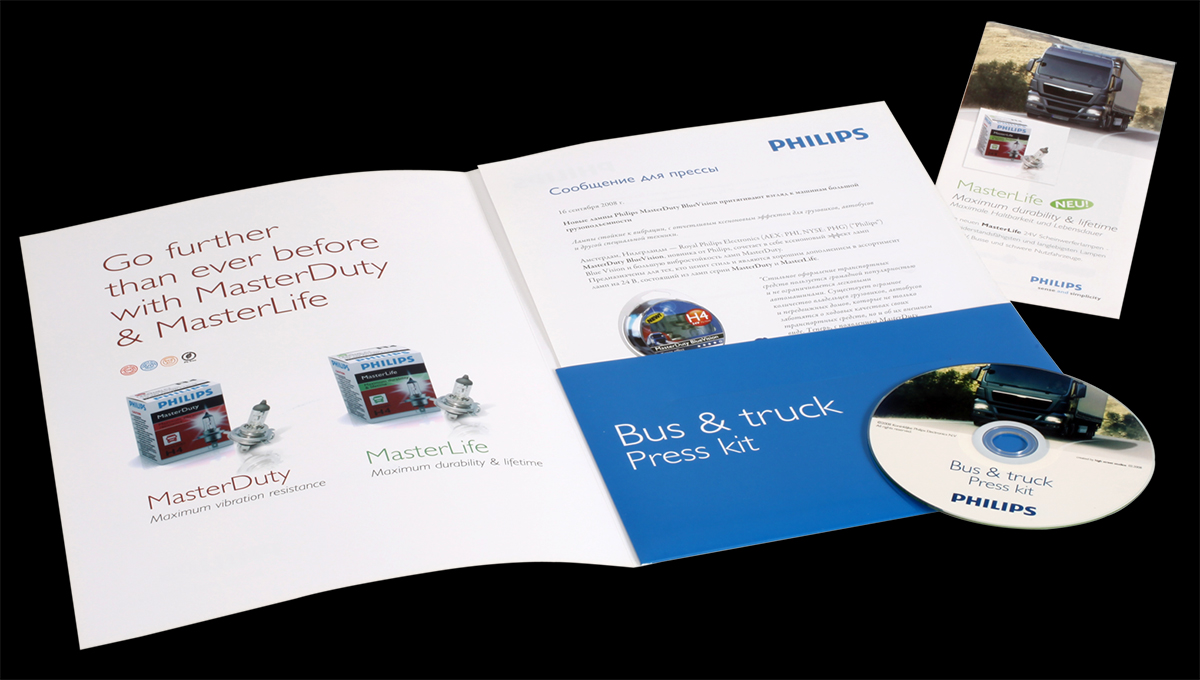 Philips halogen bus and truck lighting - Press kit