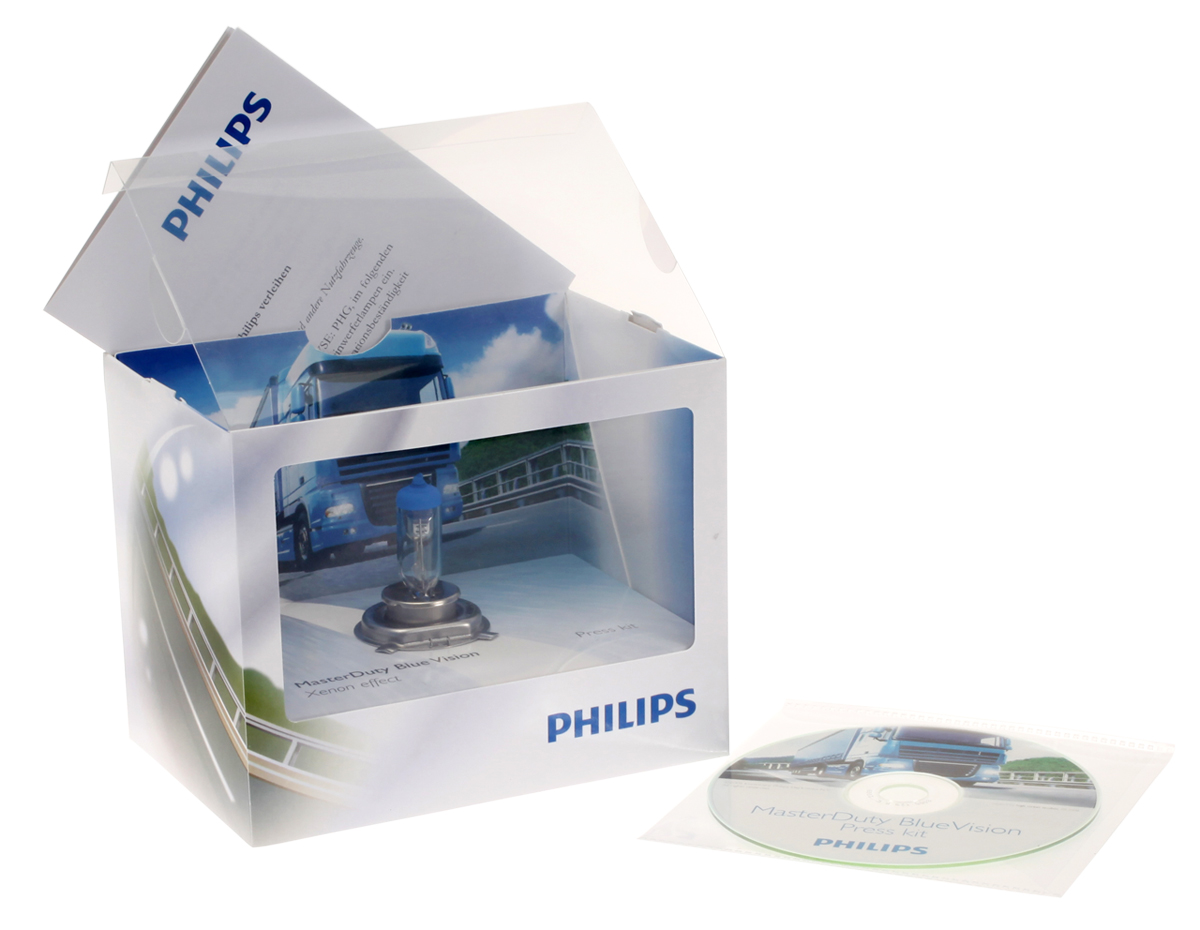 Philips MasterDuty BlueVision truck lighting Press kit
