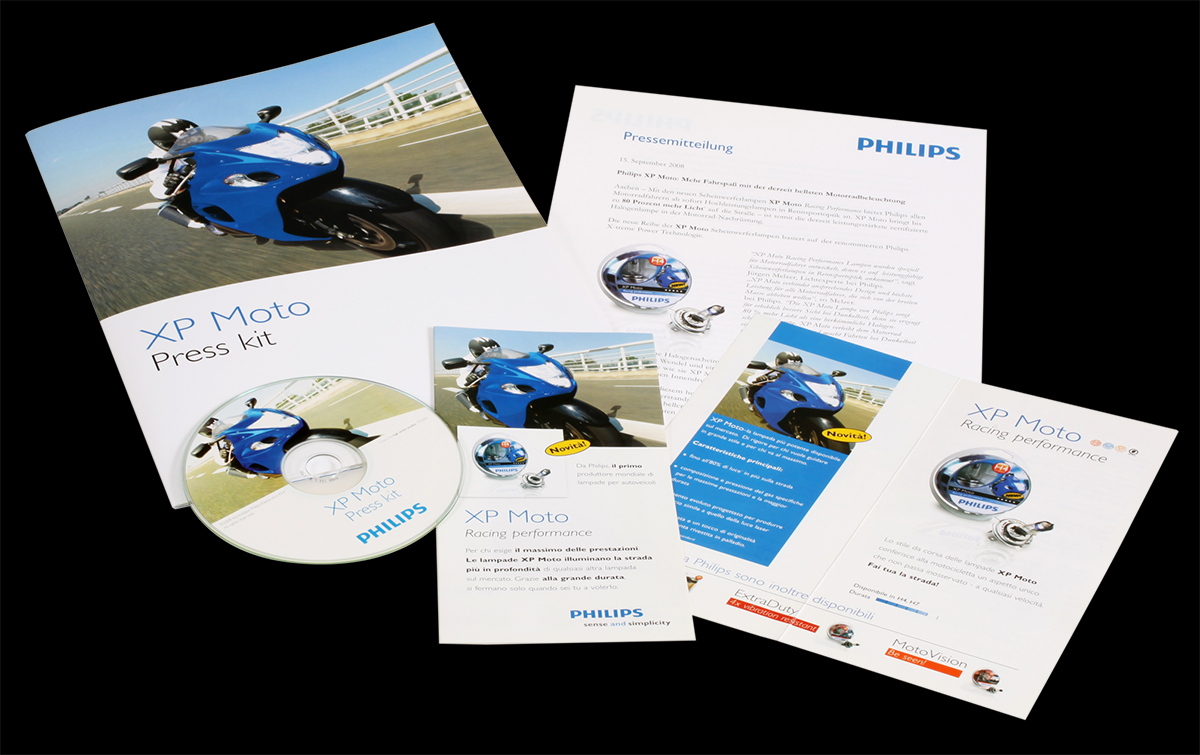 Philips XP Moto Press kit