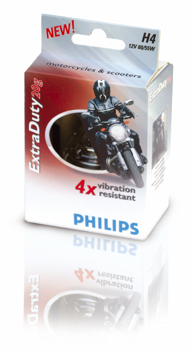 Philips ExtraDuty two-wheeler lighting packaging
