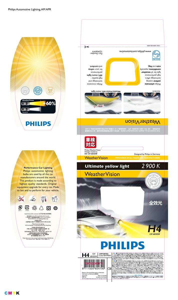 Philips WeatherVision automotive lighting packaging