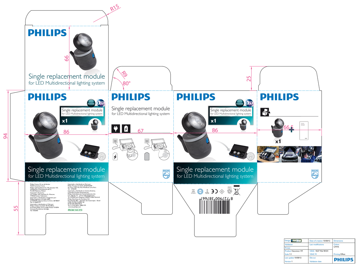 Philips Multidirectional lighting system - spare module - packaging