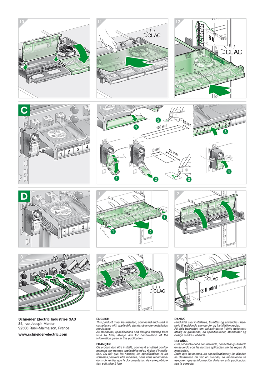 Schneider Electric Industries - Actassi fiber optic panels